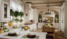 European inspired kitchen
