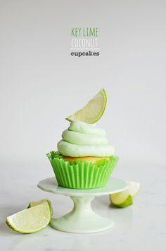 Key Lime Coconut Cupcakes - Waiting on Martha