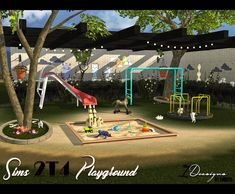 "leo-sims: "" daer0n: ""  2T4 Conversion and recolour of the Sims 2 Base Game Playground. This set contains: Hey Hey It's the Monkey Bars from Go Play! (functional) Centrifun from Go Play!..."
