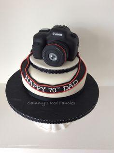 Awesome Photo of Camera Birthday Cake - Birthday Cake Flower Ideen Birthday Cake 30, Birthday Cake Models, Birthday Cake Cookies, Birthday Ideas, Birthday Cake Pinterest, Pinterest Cake, Camera Cakes, Dad Cake, Husband Birthday