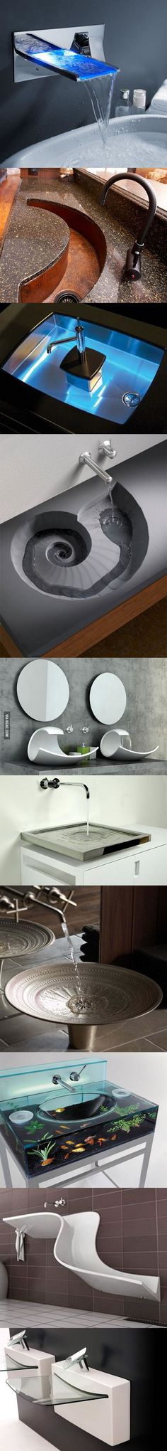 I was disappointed earlier when I didn't get to see many fancy sinks - 9GAG