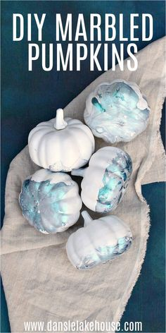 DIY Marbled Pumpkins. Learn how to make marbled pumpkins with nail polish. Easy dollar store craft idea for Fall or Halloween! Make these easy marbled pumpkins for modern DIY fall decor. Check out the blog for this and other pumpkin decorating DIY ideas and DIY pumpkin decorations. Easy pumpkin painting ideas and DIY fall crafts for the home. DIY fall decor inspiration kid can help with too! No Carve Pumpkin Decorating, Pumpkin Decorations, Diy Halloween Decorations, Fall Crafts, Decor Crafts, Home Crafts, Modern Halloween, Halloween Diy, Pumpkin Painting