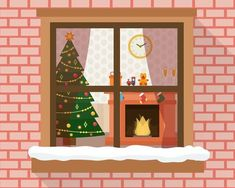 Find christmas house stock images in HD and millions of other royalty-free stock photos, illustrations and vectors in the Shutterstock collection. Christmas Tree And Fireplace, Christmas Room, House Illustration, Illustrations, Holiday Apartments, Through The Window, Windows And Doors, Vector Art, Photos