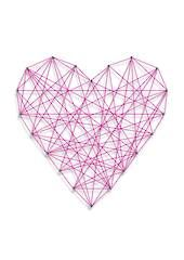 String Art Heart Print - laundry
