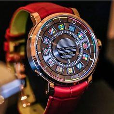 Louis Vuitton Escale Spin Time, 41 mm pink gold case, calibre LV77.