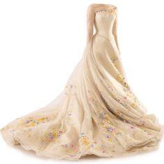 satinee.polyvore.com - Cinderella's Wedding Dress ❤ liked on Polyvore featuring dresses, wedding dresses, gowns, wedding and wedding dress