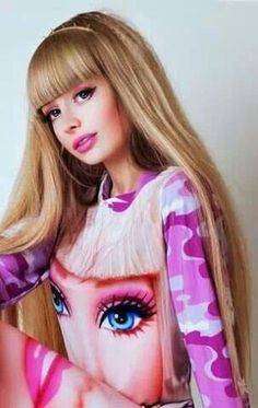 Anzhelika Kenova is a Russian woman who looks uncannily like Barbie, and certainly plays up her looks to emphasise her doll-like features. Living Barbie, Living Dolls, Anastasia Knyazeva, Mode Kawaii, Human Doll, Real Doll, Everything Pink, Barbie Friends, Lolita Dress
