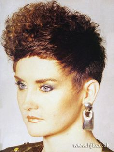 80s perm.. and gold lipstick