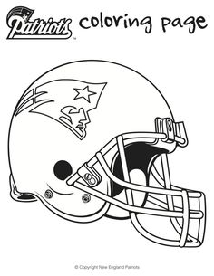 Football Coloring Sheets for Kids - Charlene Chronicles Here are is a printable Patriots football coloring sheets for kids as well as a link to other NFL Football coloring sheets and Superbowl activities for kids Football Coloring Pages, Sports Coloring Pages, Coloring Sheets For Kids, Coloring Books, Super Bowl Activities, Sports Activities For Kids, Kids Sports, Sports Teams, Patriotic Crafts