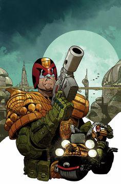 Judge Dredd #1 Carlos Ezquerra Cover, Lines by Carlos Ezquerra, Color by Nelson Daniel