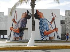 FINTAN MAGEE IS AN AUSTRALIAN STREET ARTIST - The Spear Fishermen - Cozumel Mexico - Fintan Magee |Street Art