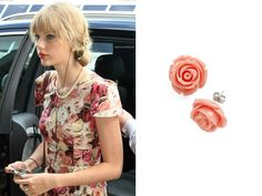 At the Sydney International Airport | Sydney, Australia | March 19, 2012 GET THE LOOK: Modcloth Retro Rosie Earrings- $9.99