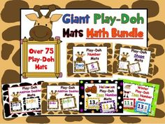 You will have so many Play-Doh mats to choose from! All of these mats reinforce math skills! This pack is over 80 pages!!!!