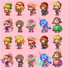 Cool Pixel Art, Anime Pixel Art, Pixel Characters, Final Fantasy Characters, Character Design References, Game Character, Sprites, Stitch Games, Pixel Art Templates