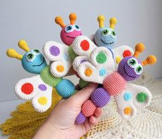 [Free Pattern] Super Cute And Adorable Amigurumi Butterfly Baby Rattle