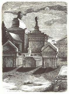 Dracula illustrated by Edward Gorey (1925 - 2000).