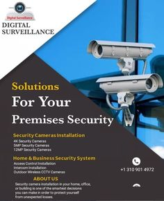 Cctv Security Cameras, Wireless Security, Security Camera System, Security Cameras For Home, Best Security System, Cctv Security Systems, Wireless Cctv Camera, Cctv Camera Installation, Intercom