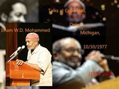 W.D. Mohammed Talks at Cobo Hall, Detroit, MI