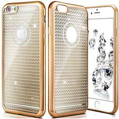 Shiny Case für iPhone | Transparente Silikon Hülle mit Metallic Effekt und glänzender Rückseite | Dünne Handy Schutz Tasche von OneFlow | Back Cover in Gold
