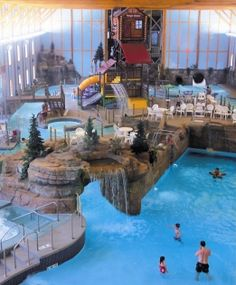 Indoor water park by Starved Rock, great cold weather fun!