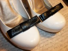 Patent Leather bow shoe clips Bridal Wedding  by ShoeClipsOnly, $16.00