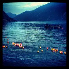 Candle lit lake