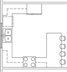 G Shaped Kitchen Layouts g shaped kitchen layout with eating counter. | g shaped kitchen