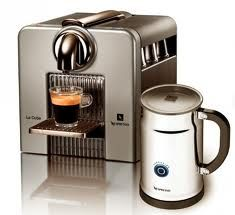 Nespresso Cube and milk frother. A perfect pair