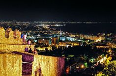 Wonderful #Thessaloniki city View from the Old fortress!  ..Enjoy this beautiful night!