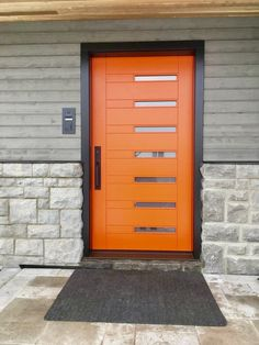 Image result for exterior house color with orange front door