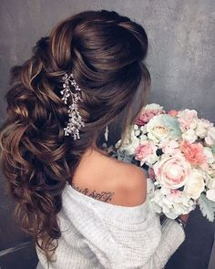Elstile Long Wedding Hairstyle Inspiration