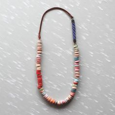 terra cotta bead necklace (found via you are my fave)