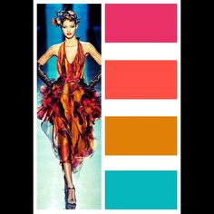 Color palette of the day. Gaultier couture. Photo credit: nymag.com #photoofday #picoftheday #beautyiseverywhere #beautiful #color #colorful #colorpalette #fashion injinnyous.com