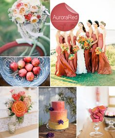 Top 10 Pantone Fall Wedding Colors 2014 Trends | Aurora Red