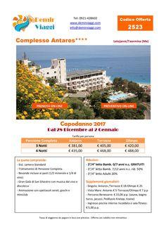 Complesso Antares - Letojanni/Taormina (Me) #Capodanno 2017 Per info e preventivi tel 0921428602 Email: info@demirviaggi.com Web: www.demirviaggi.com #Sicilia #Viaggi #LastMinute #Offerte