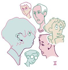 Joe Sparrow daily drawing #2 doodling more heads