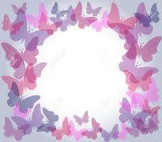 Resultado de imagen para bordes para tarjetas de mariposas