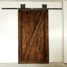 Rustykalne, dębowe drzwi przesuwne ZET