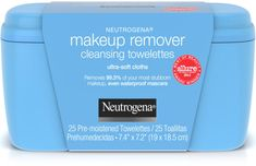 Make-up Remover Cleansing Towelettes 25 Ct by Neutrogena effectively dissolves all traces of dirt, oil and make-up - even waterproof mascara - for clean, fresh skin in one easy step. Neutrogena Makeup Remover, Makeup Remover Wipes, Dental Floss Picks, Best Selling Makeup, Oil Light, Make Up Remover, Waterproof Mascara, Benefit Cosmetics, Cleanse