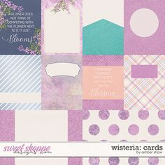 Wisteria: Cards by Amber Shaw