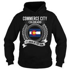 COMMERCE CITY COLORADO  ITS WHERE MY STORY BEGINS TSHIRT HOODIE