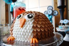 Owl cake -  baby shower  From PROJECT NURSERY