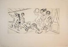 Max Beckmann Der Traum II (Dream II) 1924 Drypoint 207 x 407 mm (376 x 538 mm) Classic Modernism > German Expressionism