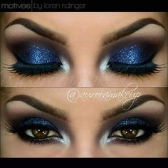 Last pic of this look =) Products @motivescosmetics by @lorenridinger -Eye Shadow Base -Khol eyeliner in ONYX  as dark base on mobile eyelid & waterline -Pressed Eye Shadow in VINO , marking the crease and transition color -Pressed eye Shadow in MIDNIGHT , on mobile eyelid -Glitter Pot in MOON DUST , on mobile eyelid -Gel eyeliner in LITTLE BLACK DRESS lining top lashes -Pressed eye Shadow in CRèME FRESH -La La Mineral Volumizing & Lengthening Mascara in BLACK #auroramakeup…