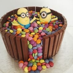 If you are a fan of #minions as much as we are you will absolutely LOVE this adorable #Minions #cake creation by Wicked Creations - Find them at www.wickedcreations.co.za #WickedPixii/