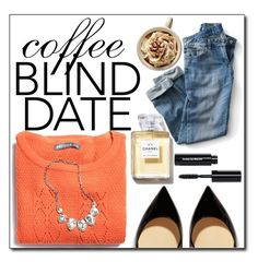 """◇COFFEE DATE◇"" by tamsy13 ❤ liked on Polyvore featuring Christian Louboutin, Bobbi Brown Cosmetics, coffee and blinddate"
