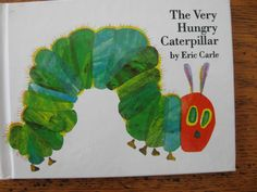 Book Basket with handmade basket liner and Eric Carle Books