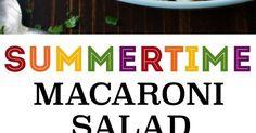 Classic Macaroni Salad   Recipe   Them, Potato salad and Macaroni salads