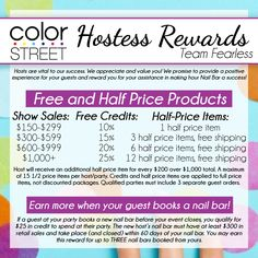 Love Color Street 100% nail polish strips? How about FREE Color Street strips? Reach out to me (click the pic) to host a Nail Bar (online or in person - I'm in northeast PA)! These rewards are amazing!