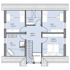 Haus Paulik – Dachgeschoss Bad, Floor Plans, Home, Attic, Build House, Diy Crafts, House, Ad Home, Homes